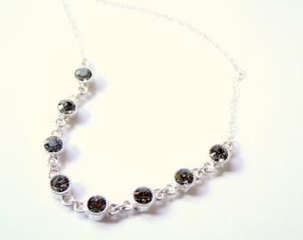Simple Swarovski Sparkle Layering Necklace