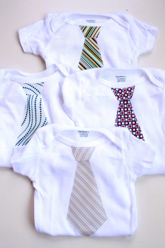 Little Man Tie Onesies- Custom Order For Dana