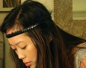 Hippie Feather Headband with Sequins Headdress Crown