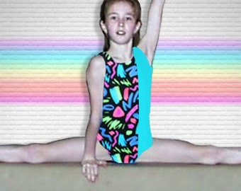Girls Gymnastics Leotard - abstract design - New Youth leo - 12 available sizes