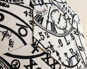 Clocks Floor Cushion - Black on natural