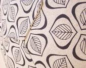 Handprinted Floor Cushion - 'Leaves' in black