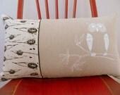 Owl Design Cushion Cover - 50cm x 30cm