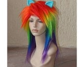Rainbow Dash cosplay costume wig - My Little Pony - Friendship is Magic