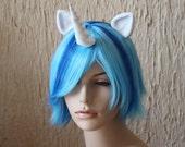 Vinyl Scratch DJ Pon-3 costume cosplay wig - blue streak wig  / unicorn / friendship is magic / My Little Pony / Prince Shining Armor