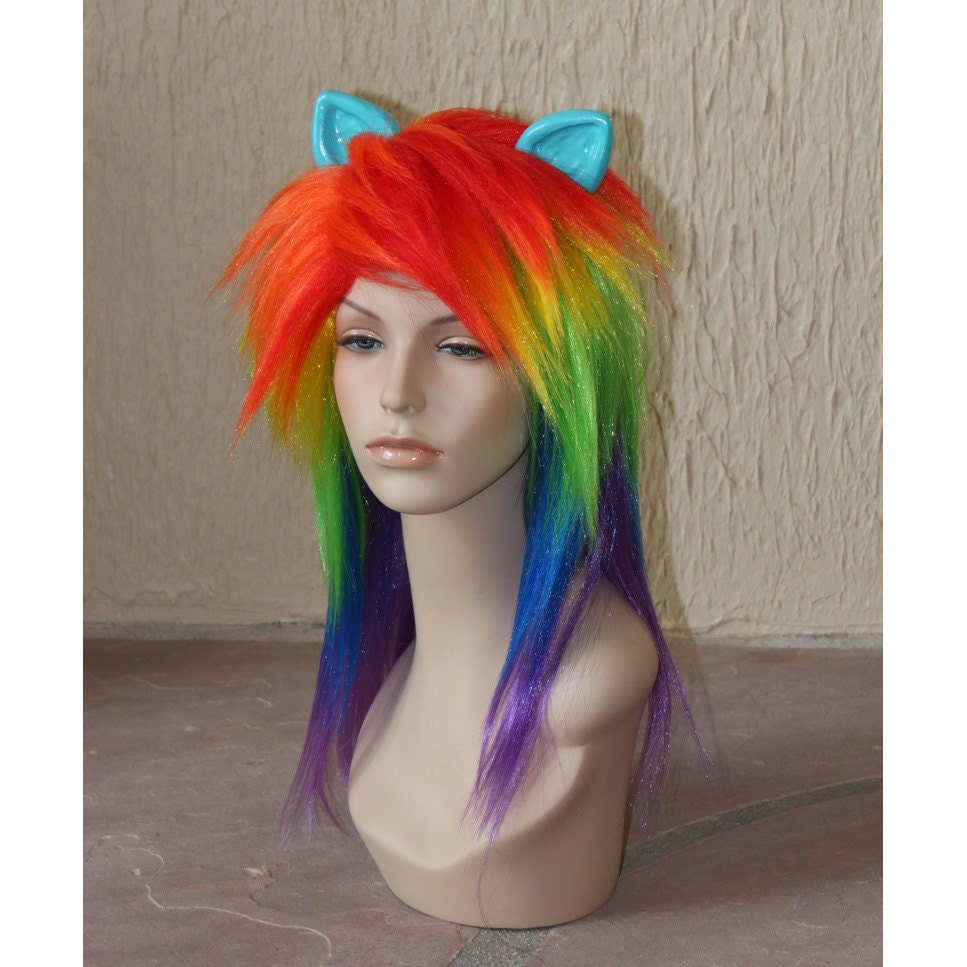 Rainbow Dash Cosplay Hair 12