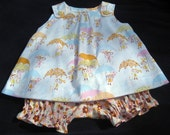 Baby\/toddler dress with co-ordinating bloomers. Choose from a wide range of fabrics Newborn - 3Y