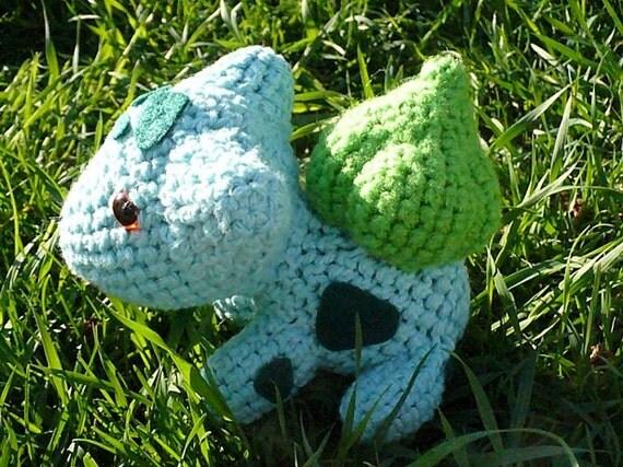 """Bulbasaur Pokemon Pattern- 8"""" amigurumi crochet"""