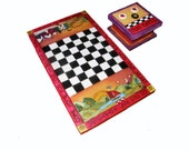 BOARD GAMES - Checker Board - custom game board - Chess board - personalized game board - Fun checkerboard game - personalized