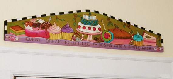 Cupcake Sign/ Door topper/ Candy/ Cake/ Patty Cake/ Bakery Sign