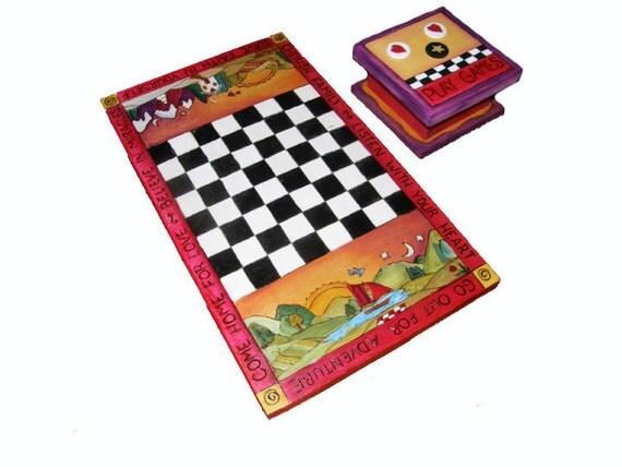 Checker Board and Game Piece Box