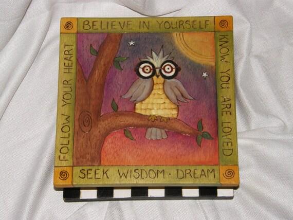 Keepsake Box/ Owl Keepsake Box/ Childrens keepsake box/ whimsical