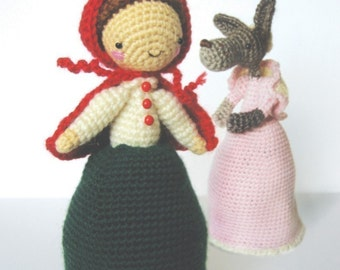 Little Red Riding Hood and The Wolf - Topsy Turvy Amigurumi Doll Pattern