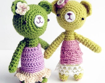 Girly Girl Bear - Amigurumi Pattern