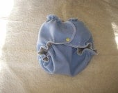 MamaBear One Size Wool Diaper Cover Wrap - Reversible Wool - Heather Gray/Baby Blue