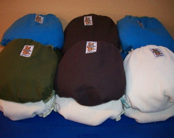 Set of 10 MamaBear One Size Cloth Diapers, Closureless