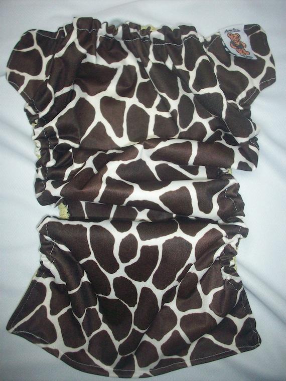MamaBear BabyWear Waterproof Diaper Cover, Wrap One Size Fits All - Giraffe