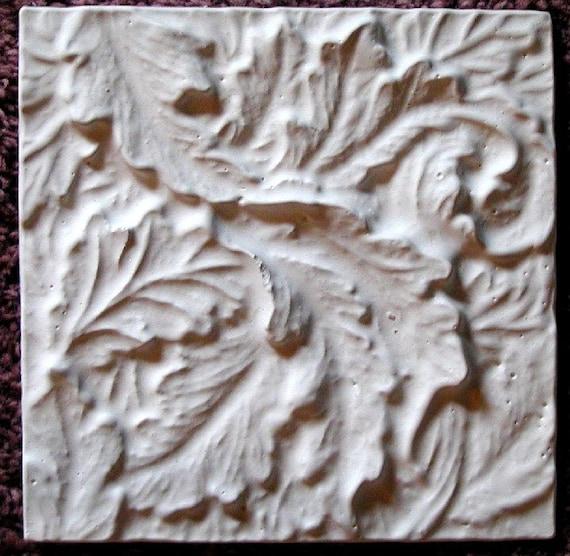 Plaster Mold Acanthus Leaf Tile, Plaster Mold, Cast Plaster