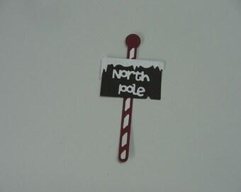 North Pole Die Cut