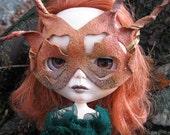 Blythe Bemasked - Leather Doll Mask for Blythe - Earth Tones