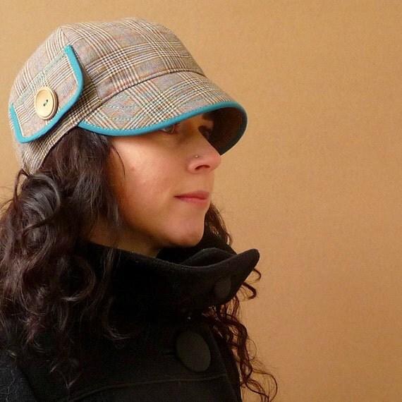 an Upcycled ' peacock teal' Kepp Jones hat - medium
