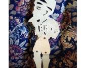 Hatziavatis   Working Shadow Theater Puppet of Traditional Greek Karagiozis Theater