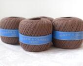 Chocolate Brown Vintage Darning Thread Spools