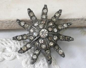 Vintage STARBURST Bling Brooch