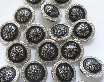 Metalized Plastic Buttons