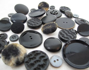 Midnight Chic Vintage Buttons