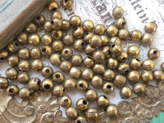Vintage Brass Spacer Beads
