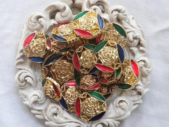 Enameled Fancy Buttons