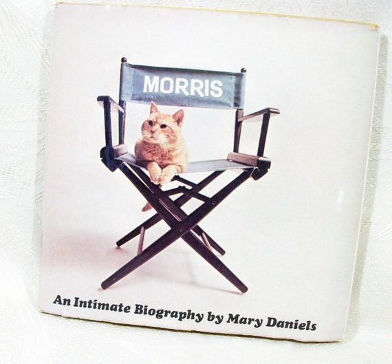 Morris The Cat Biography Book Story Hardcover Vintage 1974