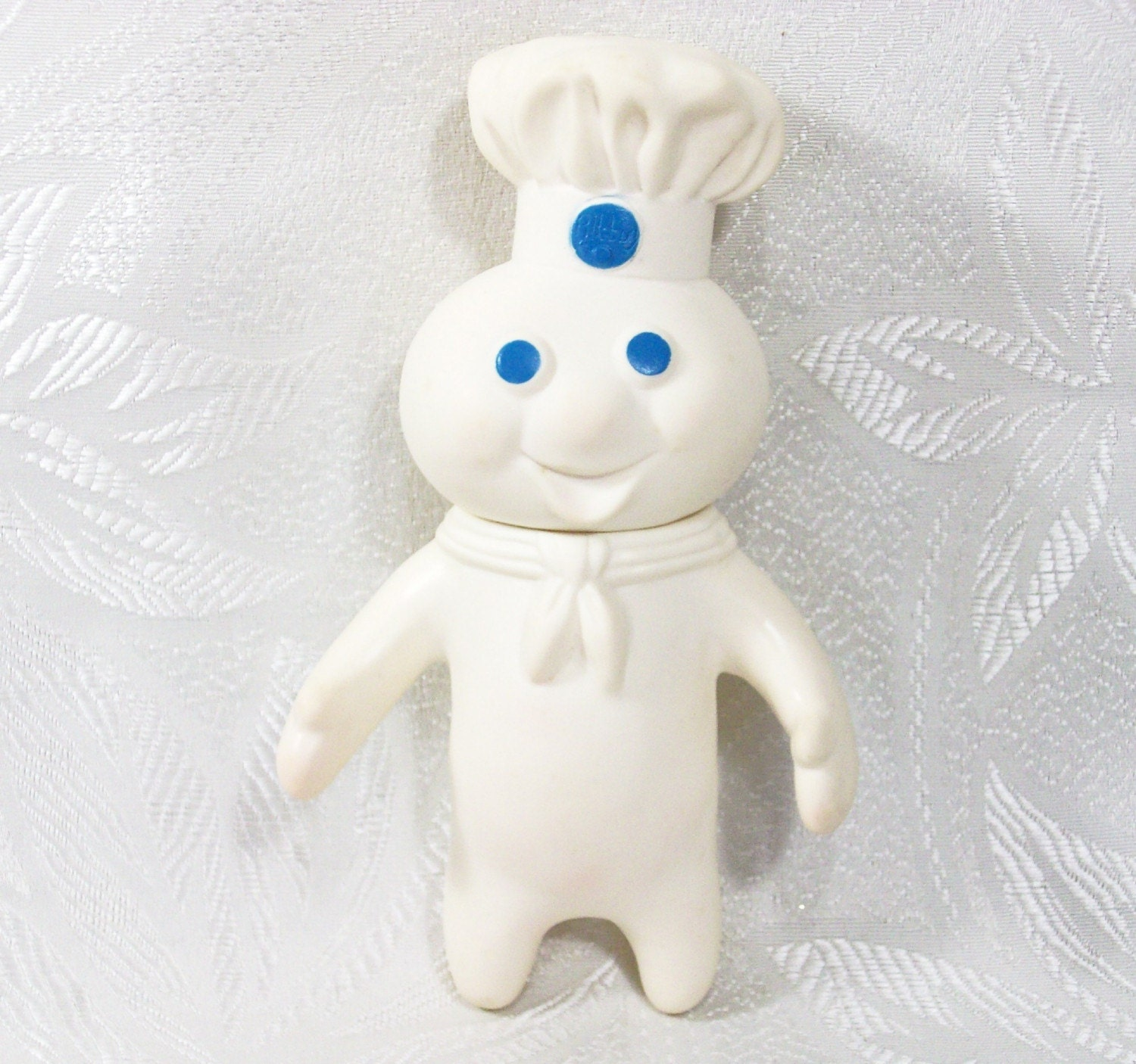 1971 Vintage Pillsbury Doughboy Doll Toy Figure White Blue