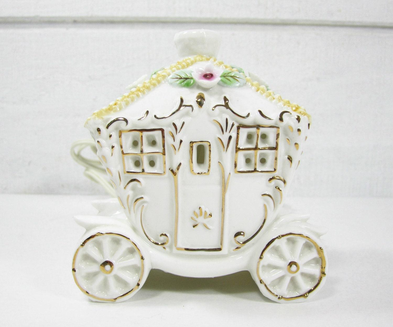 Vintage Night Light Cinderella Princess Fairy Tale Coach