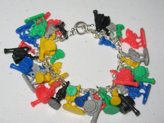 Cha Cha Risk Charm Bracelet Pretty Geeky Risk Board Game Pieces Bracelet for Gamers