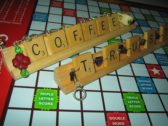 Scrabble Tile Bracelet Custom Any Name or Word Choose Your Beads Customize Style OOAK Jewelry