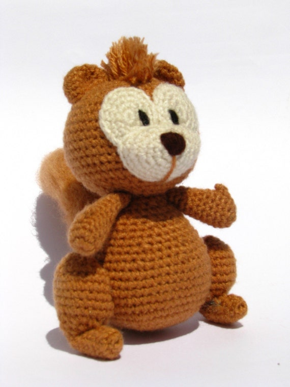 Crochet Amigurumi Squirrel : Simon the squirrel PDF amigurumi crochet pattern by picuu ...