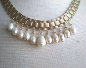 Vintage Repurposed Necklace / Pearls - Cleopatra Pearls