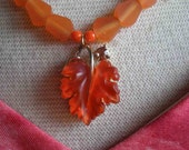 Lisner Leaf  Necklace / Resin Bead - Before The Fall