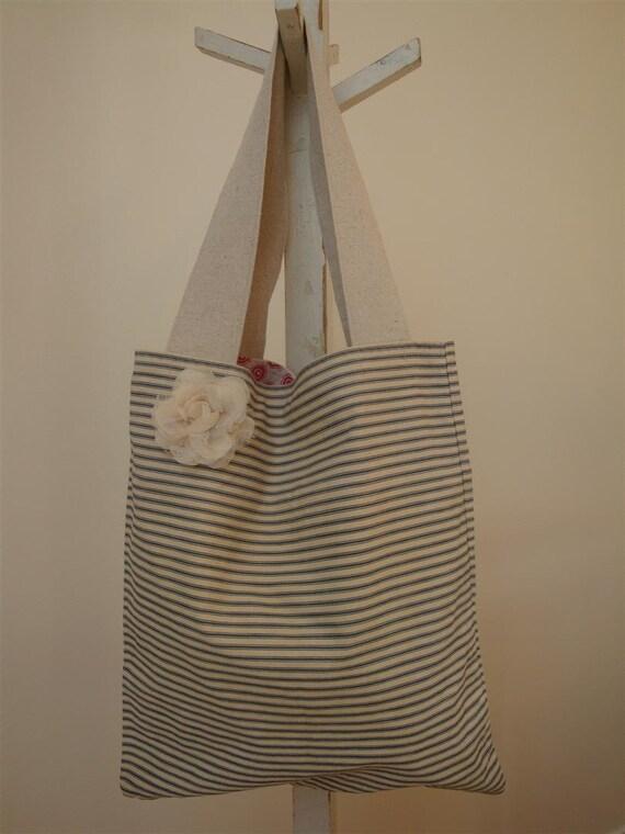 Handbag Lollibag ticking fabric