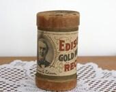 Vintage Edison Record Cylinder Antique