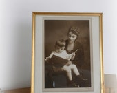 Vintage Mother and Child Photo Portrait Sepia Black and White by LeeLeescloset on Etsy