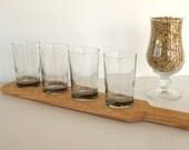 Handmade Beer Tasting Board Drink Paddle Home Brew Gift Red Oak by LeeLeesCloset