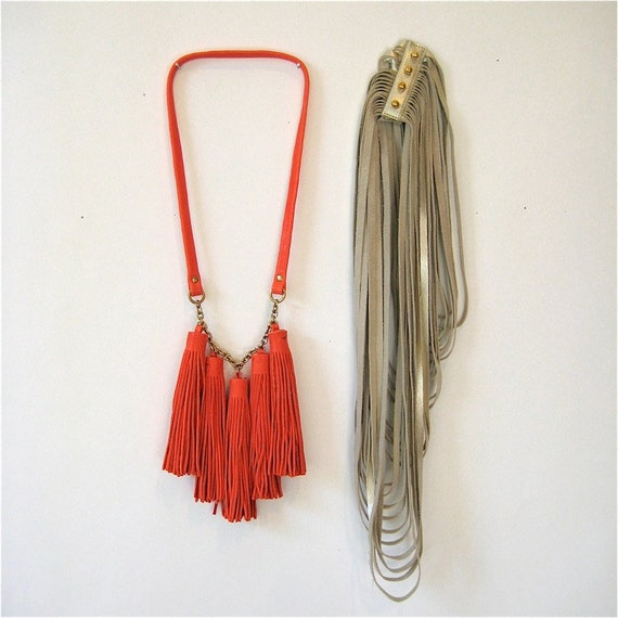 Combo Pack // S A V E // 1 Leather Tassel and 1 Uni Loop Necklace // Choose your color