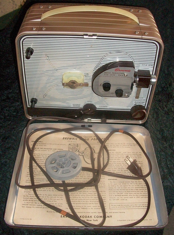 Vintage Kodak Brownie No.188 Model 1 8mm Film Projector VERY Nice Works