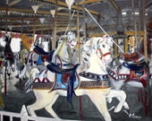 Carousel at Seaside Jersey Shore--SIGNED PRINT 8 X 10 - 15.00,Other sizes 11 x 14 - 25.00, 13 X 19- 35.00. Message me and I will list them .