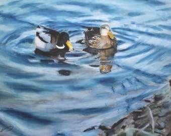 Pair of Mallards Jersey Shore-original-SIGNED PRINTS 8 X10 -15.00,11 x 14 - 25.00, 13 X 19- 35.00. Message me and I will list them for you.