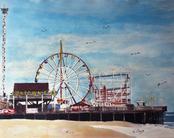 Seaside from the South Side-original -SIGNED PRINTS 8 X 10 - 25.00, 11 x 14 - 30.00, 13 X 19- 35.00. Message me and I will list them .