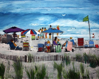Green Flag Day  on LBI-original --SIGNED PRINTS 8 X 10 - 15.00, 11 x 14 - 25.00, 13 X 19- 35.00. Message me and I will list them for you.